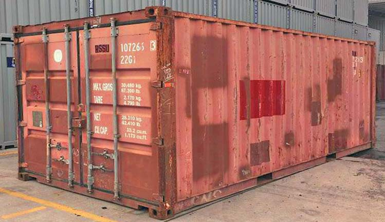 As is shipping container cost.